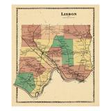 1873, Lisbon, Maine, United States Giclee Print