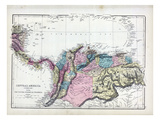 1873, Central America, Columbia Giclee Print