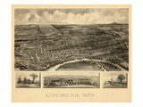 1899, Concord Bird's Eye View, New Hampshire, United States Giclee Print