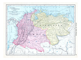 1913, Brazil, Columbia, Ecuador, Venezuela, South America Giclee Print