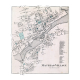 1881, Machias Village, Maine, United States Giclee Print