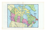 1925, Canada, North America, The Dominion of Canada and Newfoundland Giclee Print