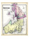 1870, Newport, Rhode Island, United States Giclée-Druck