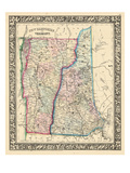 1864, United States, New Hampshire, Vermont, North America, New Hampshire and Vermont Giclee Print