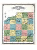 1911, Henry County Outline Map, Illinois, United States Giclee Print