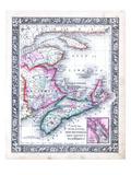 1864, Canada, New Brunswick, Nova Scotia, Prince Edward Island, North America, Nova Scotia Giclee Print
