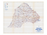 1958, Chester and Delaware Counties Map, Pennsylvania, United States Giclee Print