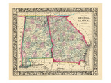 1864, Georgia and Alabama Mitchell Plate, Alabama, United States Giclee Print