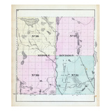 1881, Middle Division, Machias Lake, Cranberry Lake, Maine, United States Giclee Print
