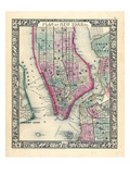 1864, New York, New York, Brooklyn, Manhattan, Jersey City, Hoboken Giclee Print