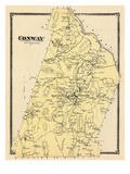 1871, Conway, Massachusetts, United States Giclee Print