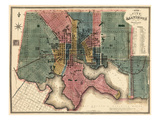 1822, Baltimore Revised 1836, Maryland, United States Giclee Print