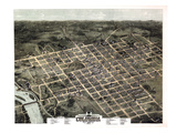 1872, Columbia Bird's Eye View, South Carolina, United States Giclee Print