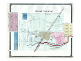 1875, Toledo - West, Ohio, United States Giclee Print