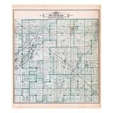 1895, Sunfield Township, Sobby Lake, Round Lake, Saddleback Lake, Tamerack Lake, Michigan, United S Giclee Print
