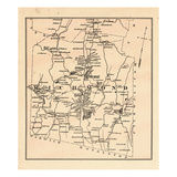 1877, Richmond Township, Cass Pond, New Hampshire, United States Giclee Print