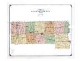 1916, Putnam County Topographical Map, Missouri, United States Giclee Print