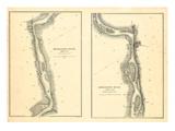 1866, Mississippi River Chart 1866, Mississippi, United States Giclee Print