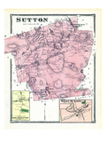 1870, Sutton, Sutton South, Sutton West, West Sutton, Massachusetts, United States Giclee Print