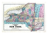 1875, New York State Map, New York, United States Giclee Print