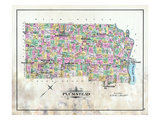 1891, Plumstead Township, Pt.Pleasant, Carversville, Gardenville, Cyerstown, Fountainville Giclee Print