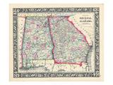 1864, Georgia and Alabama Mitchell Plate, Georgia, United States Giclée-Druck