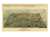 1892, DeKalb Bird's Eye View, Illinois, United States Giclee Print