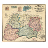 1865, Montgomery County Wall Map, Maryland, United States Giclee Print