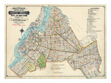 Brooklyn Map 1916 Giclee Print