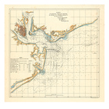 1878, Charleston Harbor Chart South Carolina, South Carolina, United States Giclee Print