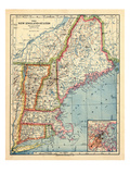 1883, New England 1883, Maine, United States Reproduction procédé giclée