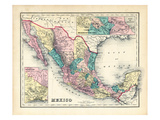 1876, Mexico, Panama, North America Giclee Print
