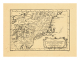 1757, Connecticut, Maine, Massachusetts, New Hampshire, New York, Pennsylvania, Rhode Island, Vermo Giclee Print