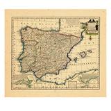 1747, Portugal, Spain Giclee Print