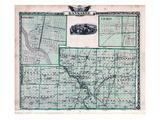 1876, Kankakee County Map, Gilman, Kankakee, Illinois, United States Giclee Print