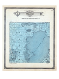 1913, Pelican Township, Cullen Lake, Shaffer, Long, Twin, Minnesota, United States Giclee Print