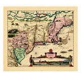 1680, Connecticut, Maine, Maryland, Massachusetts, New Hampshire, New Jersey, New York Giclee Print