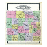1904, Custer County Outline Map, Nebraska, United States Giclee Print