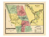 1869, Andover, Weston Town, Vermont, United States Giclee Print
