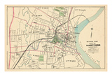 1893, Hartford City - Central Part, Connecticut, United States Giclee Print