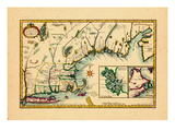 1720, New England, Connecticut, Maine, Massachusetts, New Hampshire, Rhode Island, Vermont Giclée-Druck