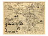 1599, North America, South America Giclee Print