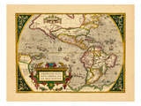 1598, North America, South America, World Giclee Print
