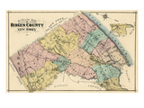 1876, Bergen County, New Jersey, United States Giclee Print