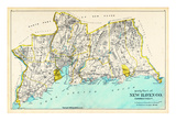 1893, New Haven County. - South Part, Connecticut, United States Giclee Print