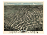 1871, Atlanta Bird's Eye View, Georgia, United States Giclee Print