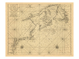 1713, A Chart of the Sea Coast Giclee Print