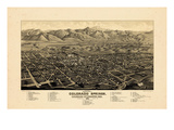 1882, Colorado Springs 1882c Bird's Eye View, Colorado, United States Giclee Print