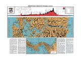 Panama Canal, Map of Panama Giclee Print