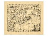 1758, New England, New Brunswick, Newfoundland and Labrador, Nova Scotia, Ontario Giclee Print